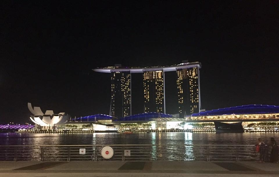 Picture of Marina Bay Sands taken from a happy hour I went to with the AWA